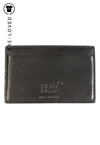 Montblanc grey Pre-Loved montblanc Card Holder 2601EACD6390AAGS_1