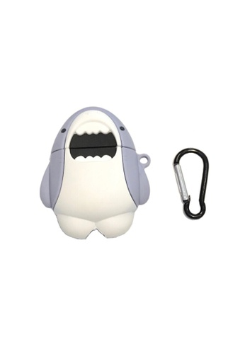 Kings Collection white Cute Shark AirPods Case (UPKCAC2039) 0042EAC0F99C08GS_1