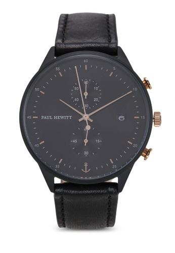 Paul Hewitt black Chrono Line Black Sunray Watch 18576AC29E2C90GS_1