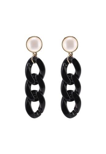 Pieces black Oye Earrings 371ABACCE1E553GS_1