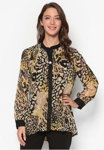 豹紋esprit 會員長袖襯衫, 韓系時尚, 梳妝