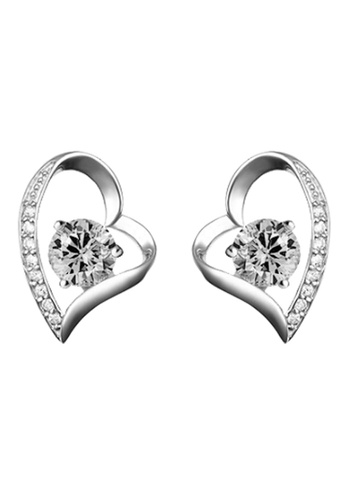 YOUNIQ silver YOUNIQ Lovey CZ 925 Sterling Silver Earrings (White) YO999AC45NPMMY_1