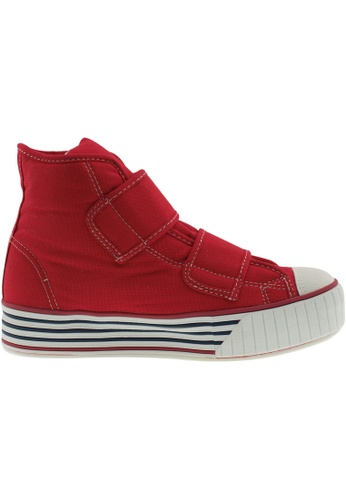 Maxstar red Maxstar Women's C30 Dual Velcro Platform Canvas Sneakers US Women Size MA164SH99PUISG_1