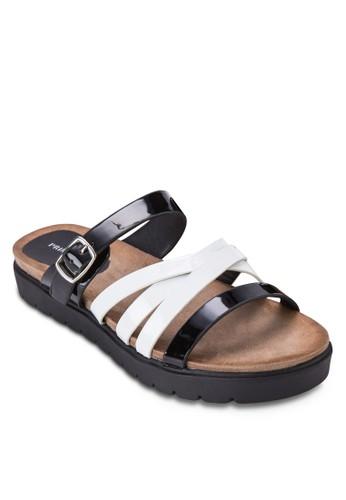 Blanc 多帶zalora 男鞋 評價仿皮厚底涼鞋, 女鞋, 涼鞋