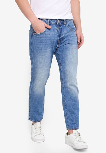 Jack & Jones 藍色 Frank 緊身牛仔褲 30CD2AAD2CE279GS_1