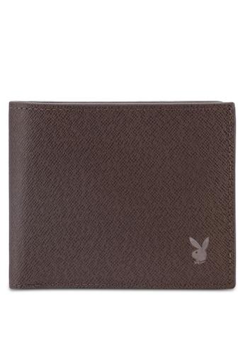Playboy brown Playboy RFID Blocking Wallet 314DFAC67AF059GS_1