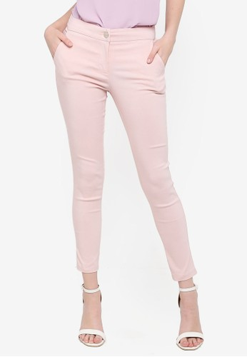 FORCAST pink Janette Slim Cropped Pants E33C7AA108D155GS_1