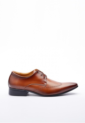 Kings Collection brown Nowell Leather Shoes KI358SH37DGOSG_1