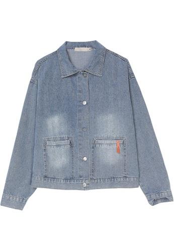 Its Me blue Fashion Letter Lapel Denim Jacket 17B49AAFC69085GS_1