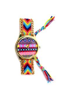 Ethnic Pattern-E Crochet Strap Watch 005