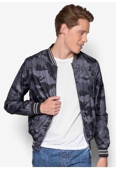 Bomber Leggero Stampato Jacket
