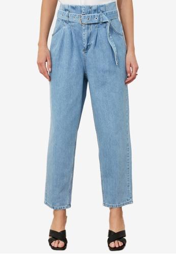 Trendyol blue High Waist Slouchy Jeans 69AB1AA5B14942GS_1