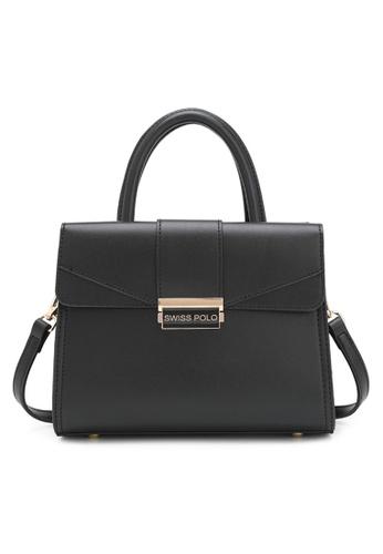 Swiss Polo black Faux Leather Top Handle Bag 2B327AC24042D5GS_1
