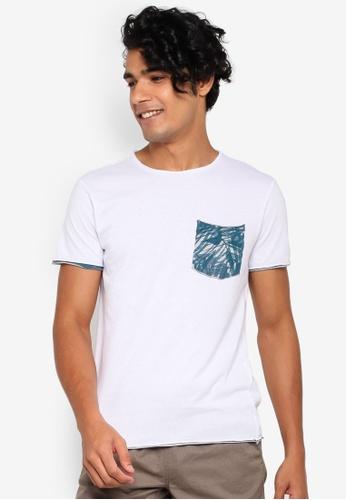 OVS 白色 口袋T恤 0F88BAACE73278GS_1
