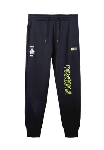 BSX navy BSX regular bonded fleece knit jogger B7AEDAA6B77618GS_1