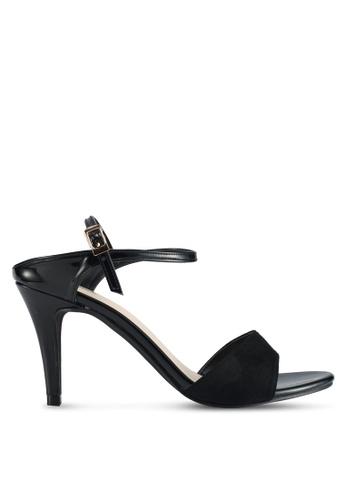 Bata 黑色 質感拼接高跟鞋 A25BASHC3E4736GS_1