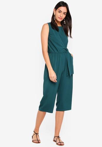 ZALORA green Sleeveless Straight Leg Playsuit C04A1AAA60E05CGS_1