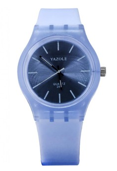 Yazole Deluxe Women's Sky Blue Silicone Strap 288 Watch