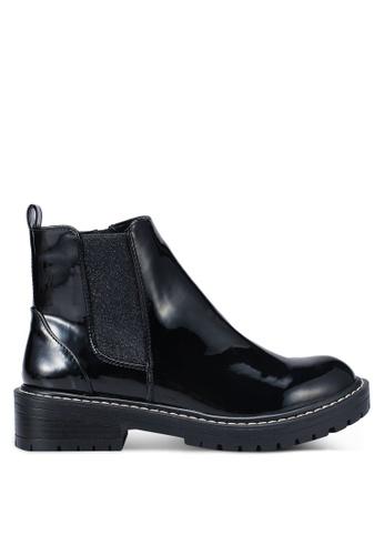 River Island black Glitter Chunky Ankle Boots EA9A3SH1E2C79FGS_1