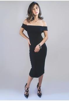The Hilary Off-Shoulder Midi Dress