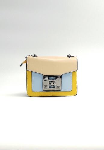 Lara multi Women's Color-Block Chain Sling Bag C627FAC0521881GS_1