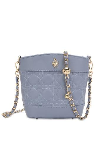 Swiss Polo blue Chain Crossbody Bag C1944ACC07D50DGS_1