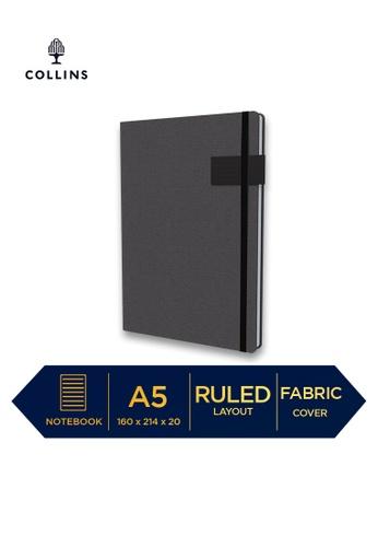 Collins black Collins Gaia - Notebook A5 Ruled Black 46EEBHL486E333GS_1