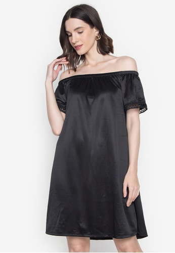 Chictees black Mikaela Off Shoulder Dress EB24FAAD3F3C53GS_1