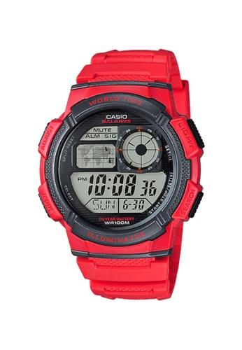 CASIO red CASIO WATCH AE-1000W-4AVDF CA347AC64IOLID_1