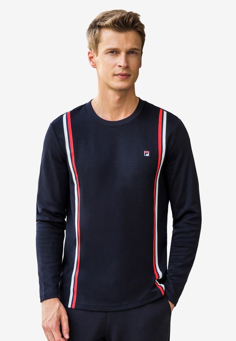 shirt Navy Ginny T Sleeve Long FILA qRR4tn8H