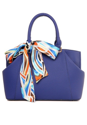 LULUGIFT blue Fusion Rainbow Ribbon Blue Purple Handbag LU989AC31XAEMY_1