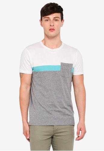 ESPRIT 灰色 短袖T恤 BFB3BAAC27A7D9GS_1