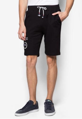 Isang 刺繡徽章zalora 衣服尺寸排汗短褲, 服飾, 短褲