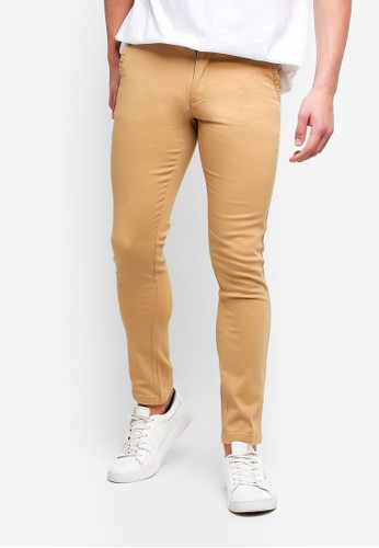High Cultured brown Long Pants-121 3DD7BAADDC5B49GS_1