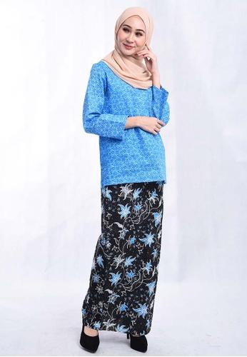 Buy Batik House My Batik House Kurung Kedah Moden Bhkt01 041 Blue Online Zalora Malaysia