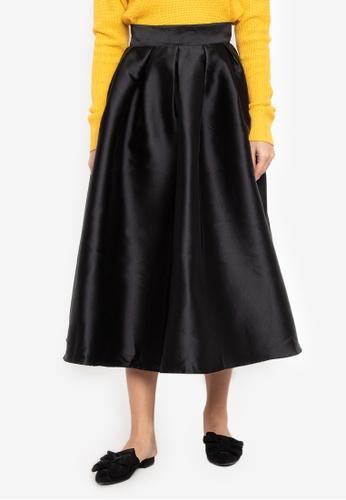 UNAROSA black Gwen Skirt C0778AA92F4A57GS_1
