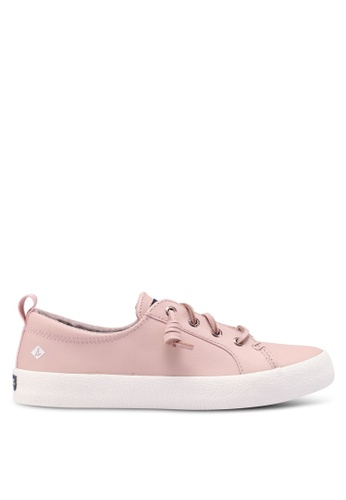 Sperry pink Crest Vibe Ap Crepe Leather Sneakers C1C02SHBCCA2B1GS_1