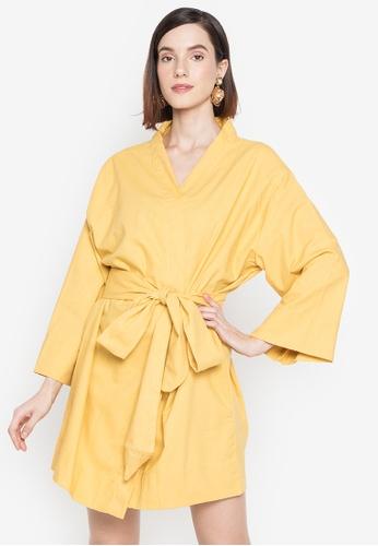 Juanita The Label yellow Geisha on Vacay Kimono Dress D0A16AA92AF7DCGS_1