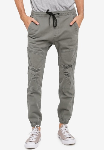 Cotton On green Drake Cuffed Pants CO372AA0SS9NMY_1