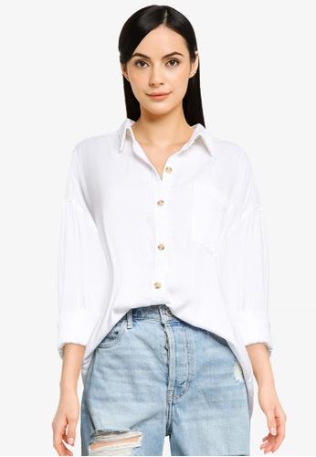 Hollister white Tunic Shirt C0F8AAA84F0A7EGS_1