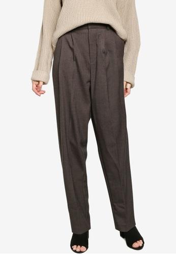 Mango grey Pleat Detail Trousers BE3B9AA2E1BBB9GS_1