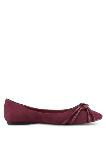 Something Borrowed red Knot detail Ballerina Flats AC936SH6F4D7BAGS_1