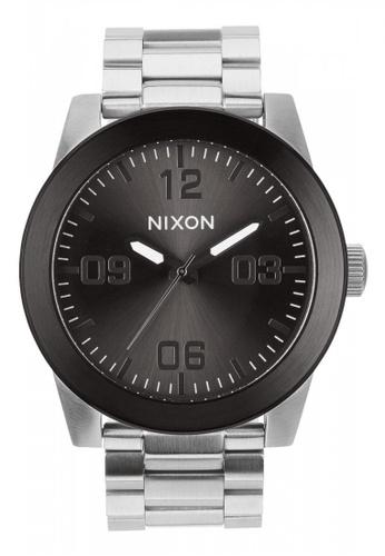 Nixon silver Nixon - Corporal SS - Silver/Gunmetal NI855AC12OFNSG_1