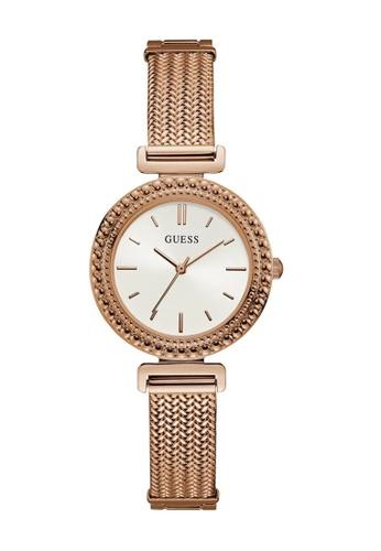 Guess Watch pink Guess Monroe Rose Gold Mesh Watch 273D5AC6016FBCGS_1