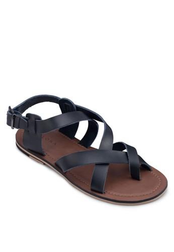 zalora taiwan 時尚購物網交叉帶繞踝涼鞋, 鞋, 拖鞋