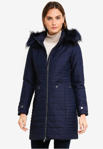 United Colors of Benetton blue Hooded Jacket 4EF16AA118B894GS_1