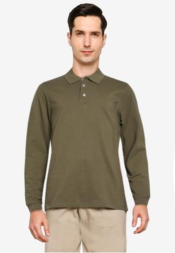 Electro Denim Lab green Cotton Long Sleeves Polo Shirt F17ABAA07F7476GS_1