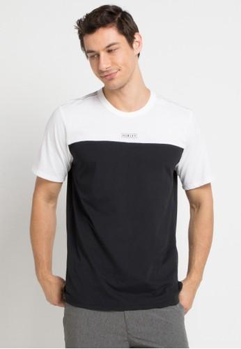 hurley black and multi Dri-Fit Straya Blocked To T-Shirt 27042AA46B70FEGS_1