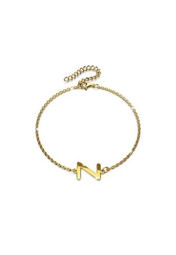 Bullion Gold gold BULLION GOLD Bold Alphabet Letter Initial Charm Bracelet in Gold Tone - Z 7DE24ACD83861AGS_1