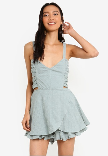 cf684c997db Buy INDIKAH Tie Back Skort Style Textured Playsuit Online on ZALORA  Singapore